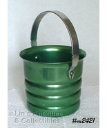Aluminumware Vintage Kromex Green Color Ice Bucket (Inventory #M2421) - $38.00