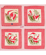 Set of 8 Tammis Keefe Christmas Cocktail Napkins Mint in Box (Inventory ... - $175.00
