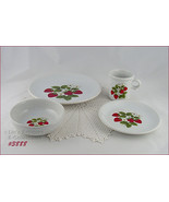 McCoy Pottery 16 Pieces Strawberry Country Dinnerware Service (Inventory... - $185.00