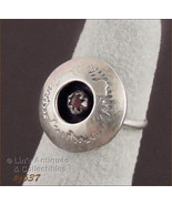 Vintage Hand-Crafted One of a Kind Size 4 1/2 Silver Ring (Inventory #J637) - $50.00