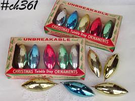 "Twenty Vintage ""Twinkle Drop The Unbreakable Kind"" Ornaments (Inventory #CH361 - $48.00"