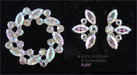 Vintage B David Pin and Matching Clip Back Earrings (Inventory #J561) - $68.00