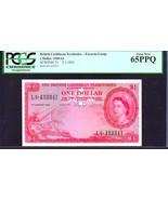 """BRITISH CARIBBEAN TERRITORIES P7c $1 """"MAP NOTE"""" 1963 PCGS 65PPQ! EXTREME... - $995.00"""