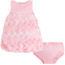 Mayoral Baby Girls 0M-12M Rose-Pink Bonaz Rosette Bubble Hem Social Dress