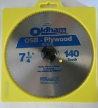 Oldham 725P Saw Blade OSB Plywood 140 Tooth Steel Carded - $4.70