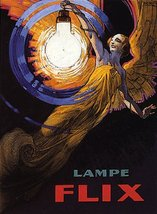 """LAMPE FLIX LAMP LIGHT WOMAN WITH WINGS FLYING ELECTRICITY 16"""" X 24"""" IMAG... - $47.53"""