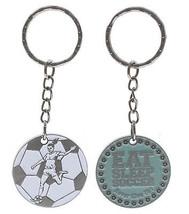 Female Eat Sleep Soccer Keychain keyring zipper pull - $5.92