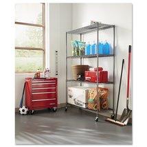 Storage Rack Metal Wire Shelves Rolling Adjustable Organizer Indoor Outdoor - $149.99
