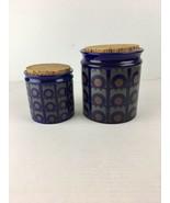 Vintage Arthur Wood Storage Jars Canister Blue Op Art Hornsea Made in En... - $98.99