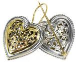 02001249e gerochristo 1249 gold silver heart earrings 1 thumb155 crop