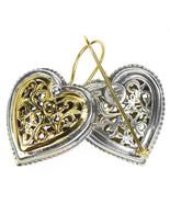 Gerochristo 1249 - Solid Gold & Sterling Silver Heart Earrings  - $880.00