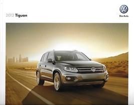 2012 Volkswagen TIGUAN sales brochure catalog US 12 SE SEL VW - $8.00