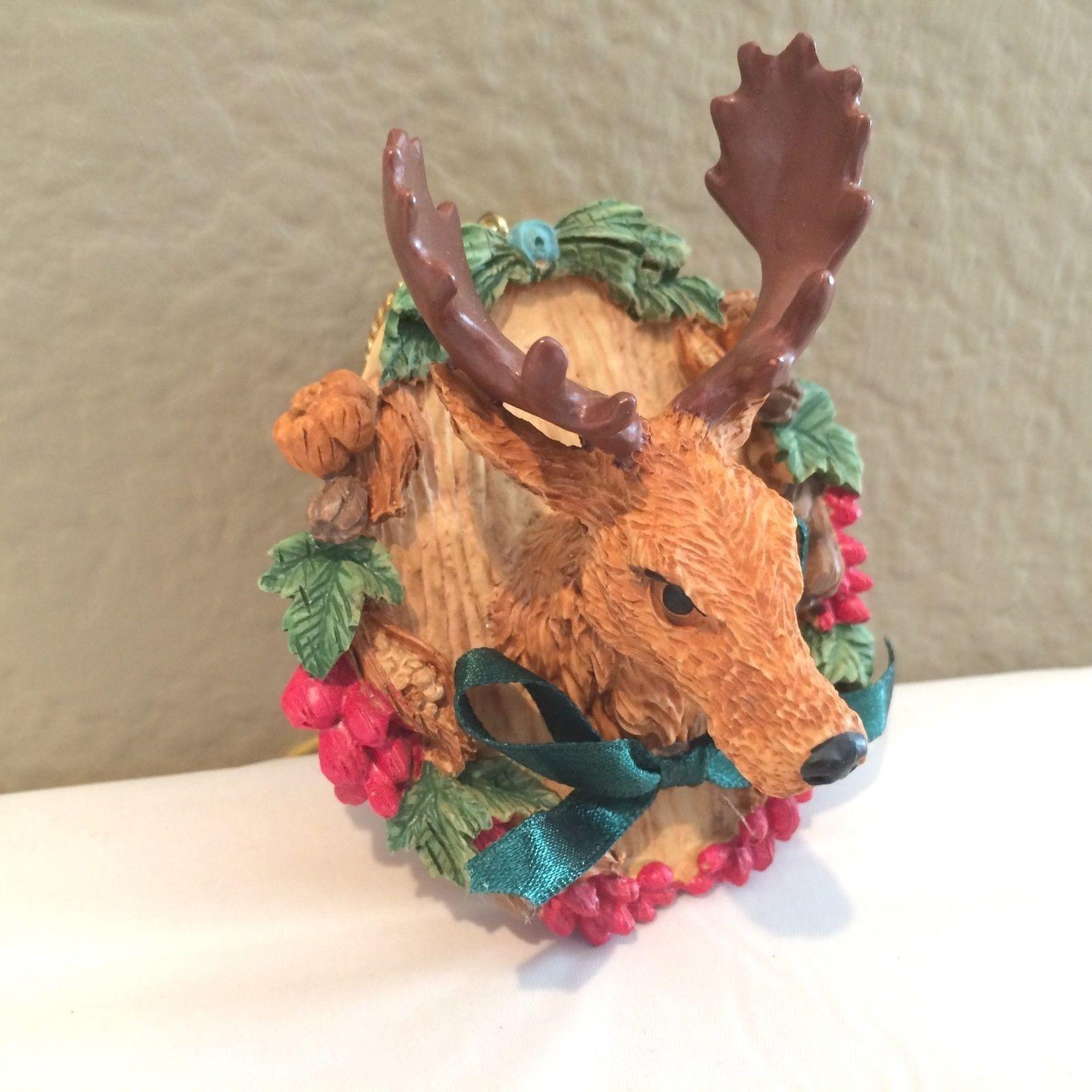 Reindeer moose mounted head christmas ornament ornaments