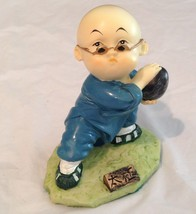 Vintage Chinese Asian Monk Boy Figurines Cerami... - $18.99