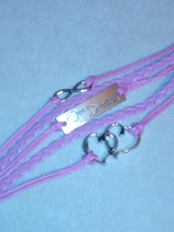 Beautiful pink leather statement bracelet One Direction image 2