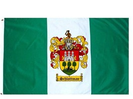 Schlottman Coat of Arms Flag / Family Crest Flag - $29.99