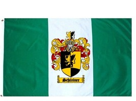 Schreiner Coat of Arms Flag / Family Crest Flag - $29.99