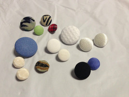 Assorted Padded Buttons-Lot of (15) - $6.00