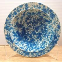 Homer Laughlin Blue Splatter Rimmed Soup Cereal Bowl Spatter Mid Century... - $28.04