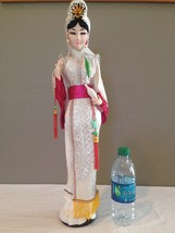 """Vintage HUGE Japanese Cloth Face Doll 22"""" on Wo... - $39.99"""