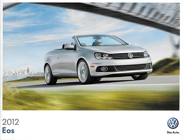 2012 Volkswagen EOS sales brochure catalog US 12 VW 2.0T Lux Executive