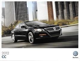2012 Volkswagen CC brochure catalog US 12 VW 2.0T R-Line Lux VR6 4MOTION - $9.00