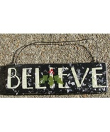 GH5166B - Believe Black Wood Sign  - $2.95