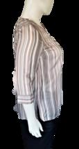 Liz Claiborne Women's V-Neck Blouse Size XL with 3/4 Length Sleeves image 2