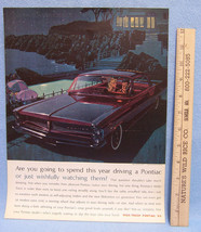 Vintage 1963 Magazine Ad for Pontiac Spend Driving a Pontiac or Watching Them - $5.93