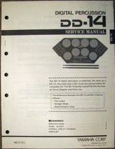 Yamaha DD-14 Digital Drum Pads Drum Machine Original Service Manual, Par... - $14.84