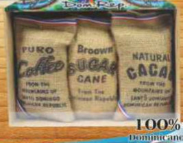 Gift set of Dominican coffee, cacao, cane sugar - $24.99