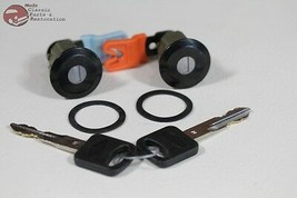 96-04 Mustang Ford Door Lock Cylinder Key Set Black Cap With Pawl New - $59.78