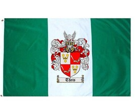 Theis Coat of Arms Flag / Family Crest Flag - $29.99