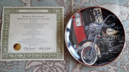 Harley Davidson Heritage Softail Classic decorative Franklin Mint plate - $7.99