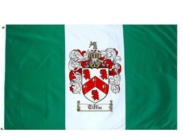 Tiffin Coat of Arms Flag / Family Crest Flag - $29.99