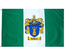 Towery Coat of Arms Flag / Family Crest Flag - $29.99