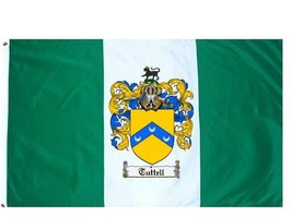 Tuttell Coat of Arms Flag / Family Crest Flag - $29.99