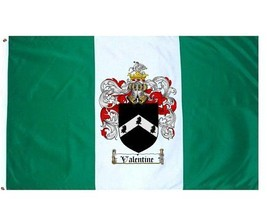 Valentine Coat of Arms Flag / Family Crest Flag - $29.99