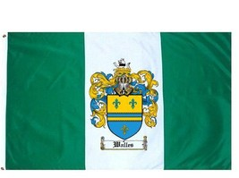 Walles Coat of Arms Flag / Family Crest Flag - $29.99
