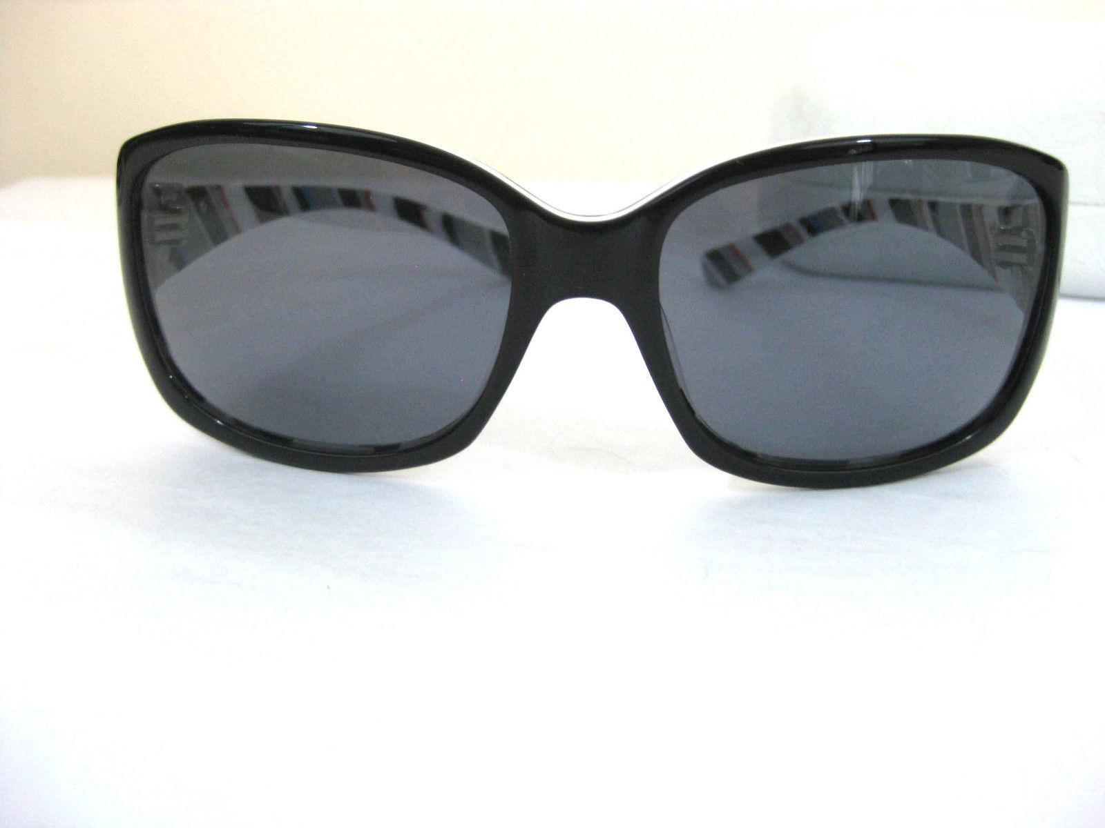 OAKLEY Sunglasses DISCREET Black Silver Inside Stripes  White Case * FORD RACING