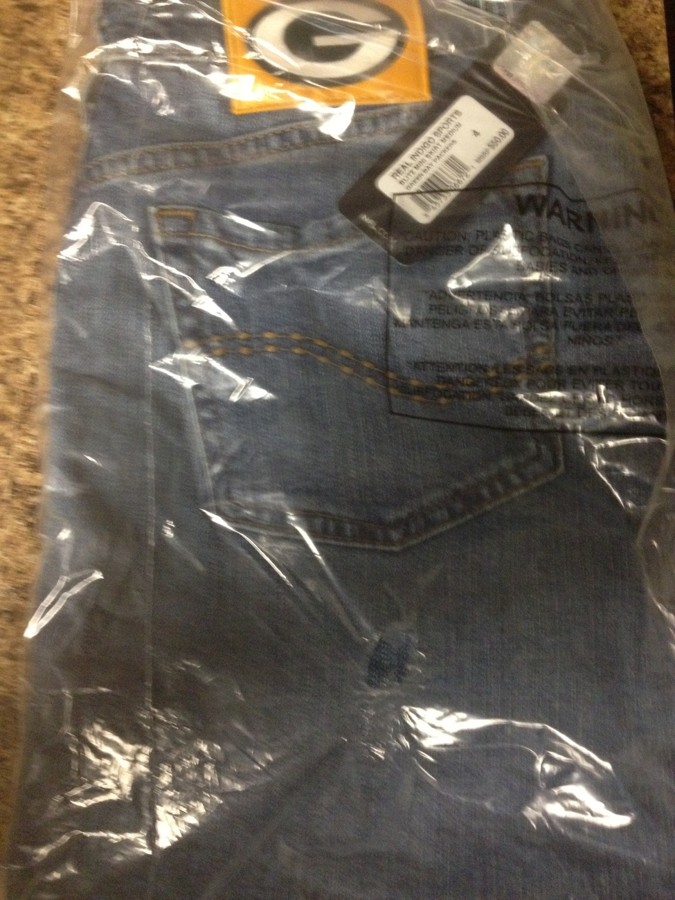 Green Bay Packers Women's Denim Mini-Skirt Size 6 NWT!