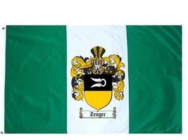 Zenger Coat of Arms Flag / Family Crest Flag - $29.99