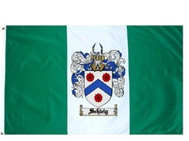 Schleig Coat of Arms Flag / Family Crest Flag - $29.99