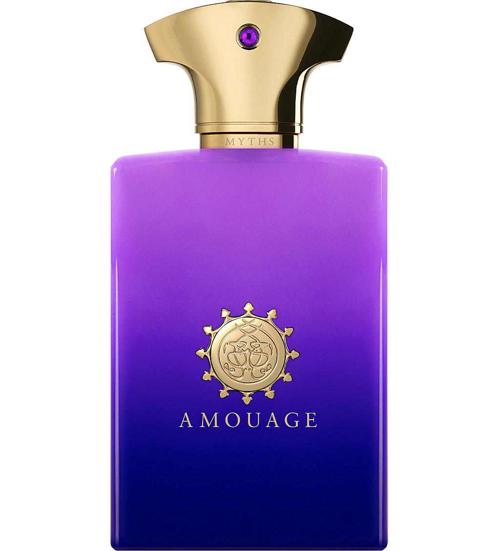 MYTHS by AMOUAGE 5ml Travel Spray MAN RUM ELEMI CHRYSANTHEMUM ASH Perfume