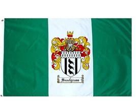 Snadgrass Coat of Arms Flag / Family Crest Flag - $29.99