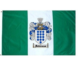 Soberanes Coat of Arms Flag / Family Crest Flag - $29.99
