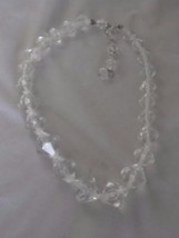 VINTAGE FACETED CLEAR LUCITE GRADUATED BEAD STRAND NECKLACE - $22.00