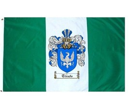 Tirado Coat of Arms Flag / Family Crest Flag - $29.99