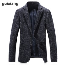 "2017 autumn and winter men""s casual fashion Single button Blazers men hi... - $100.00"