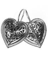 Gerochristo 1411 -  Sterling Silver Filigree Heart Earrings  - $165.00